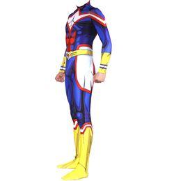 Discount hero suits - Anime My Hero Academia Boku no Hero Academia Cosplay Costume AllMight Zentai Bodysuit Suit Jumpsuits