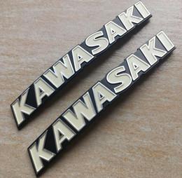 Venta al por mayor de Etiqueta engomada de la etiqueta del emblema del tanque de aceite de la gasolina del metal de las motocicletas para Kawasaki 7