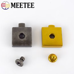 snap hook lock Australia - Meetee 24*24mm Square Bag Locks Metal Handbag Pushed Lock Snaps Clasp Replacement Purse Closure Luggage Accessories