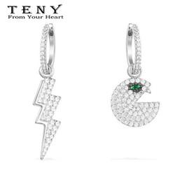 Опт Тени высокое качество OriginalSterling серебро Pac серьги женщины ювелирные изделия бесплатная почта