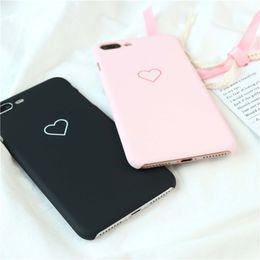 $enCountryForm.capitalKeyWord Australia - 3D Cartoon Cute Matte Love Heart Couple Case for IPhone X XS MAX XR 8 7 7plus 8plus Phone Shell Cute Case Cover