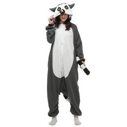 $enCountryForm.capitalKeyWord UK - New Animal Adult Lemur Catta Pajamas Cartoon Long Tail Monkey Kigurumi Onesies Cosplay Costumes Unisex Christmas Gift