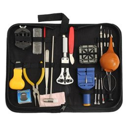 kit repair tool box 2020 - 22pcs Watch Case Opener Band Link Pin Remover Screwdrivers Repair Tool Kit with Storage Box Watch Repairing Tools discou