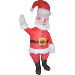 $enCountryForm.capitalKeyWord Australia - Adults Santa Claus Inflatable Costume Christmas Halloween Blow Up Mascot Costume for Women Men Birthday Party Outfit Pink Brown