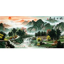 $enCountryForm.capitalKeyWord NZ - wholesale Paint With Diamonds Scenery 5D DIY Diamond Painting Chinese Landscape Picture Of Rhinestone Decor Home Sunrise