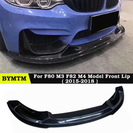 $enCountryForm.capitalKeyWord Australia - R-Z Style Carbon fiber Bumper Front lip For BMW F80 M3 F82 M4