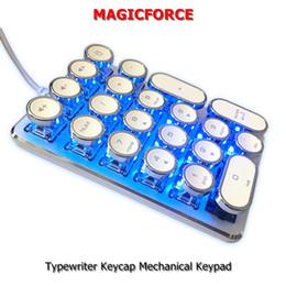 $enCountryForm.capitalKeyWord Australia - Magicforce Typewriter Edition Wired Smart 21-Key Mechanical Numeric Keypad Gateron Switches ( Ice-Blue Backlight)