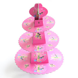fairy cupcakes Australia - 1set 3-tier Flying Elf Fairy Cake Stand Baby Shower Party Supplies Kids Birthday Cupcake Hold Kids Birthday Party Dec