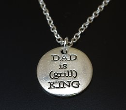 $enCountryForm.capitalKeyWord Australia - 2019 New Style Ancient Silver DAD Is Grill KING Dad Is The Barbecue King Letter Pendant Necklace Jewelry Personality Creative Father's Day G