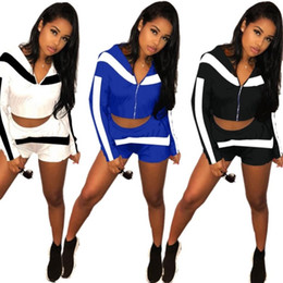 race stands 2019 - Summer Womens clothing long sleeve outfits two piece set sexy shorts tracksuit jogging sport suit sweatshirt tights spor