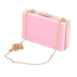 Shell Hand Bag Australia - Top-handle Shell Chain Bag Square Evening Party Clutch Hand Bags Handbags Handbag Messenger Shoulder Crossbody Ladies Female Bag