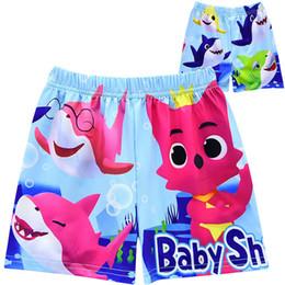 e643fc5fa2 Kids Baby Shark Cartoon Board Shorts Swim Trunks Designer Children Boys  Swimming Trunks Summer Bath Swimwear Cute Beach Shorts DHL A6401