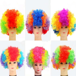$enCountryForm.capitalKeyWord NZ - Colorful Curly Explosive Head Wig Funny Clown Wig Caps Party Hats Cosplay Performance Props Halloween Party Dress Decor