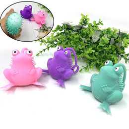 toad toy Canada - 13*7cm 36g Hot sale TPR vent frog flour ball soft rubber squeeze pinch toy novelty toad 2020 Wholesales Funny Toys