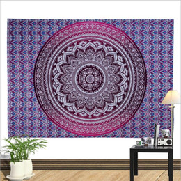Hippie art online shopping - Mandala Tapestry Indian Hippie Wall Hanging Art Tapestries Beach Cover Bed Sheet Boho Beach Towel Home Decoration Blankets cm Gift