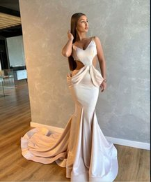 Classic White Dresses Australia - Evening dress Long dress Sleeveless Ruffle Chiffon V-Neck White Mermaid Classic Customizable in any size Modern 1930
