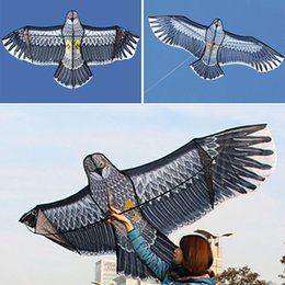 toy kites NZ - Outdoor Huge 1.5m Eagle Kite Single Line Novelty Animal Kites Children's Activity Parent-child Toys Gift Play with the adult accompany