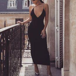 $enCountryForm.capitalKeyWord Australia - Strap V Neck Women Designer Summer Dresses Sexy Hip Backless Female Night Club Style Fshion Casual Apparel