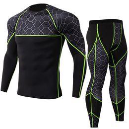$enCountryForm.capitalKeyWord Australia - New Compression Men's Suits Quick Dry Running Sets Men T Shirt Pants Fitness Clothes Gym Workout Jogging Sport Suit Q190517