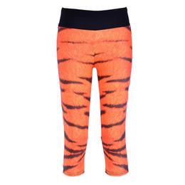 $enCountryForm.capitalKeyWord UK - Women Sports Capri Pants Yoga Fitness Cropped Modest Workout Legging Knee Length Trousers Woman Tiger Pattern LN7Slgs