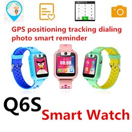 smart watch phone answering NZ - Q6S Smart Watch Child smart phone watch band Dial&Answer Call Waterproof GPS Camera Micro chat SOS emergency alarm Remote Control KID GPS