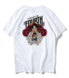 black girl dance hip hop UK - Short-sleeved T-shirt Men's Chao Brand Cotton Loose Pirate King Street Dance Hip-hop ins Couple Half-sleeved Street Trend Top Girl