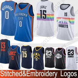0287e672be02 Stitched 13 Paul George Jerseys 0 Russell Westbrook 7 Carmelo Anthony 15  Nikola Jokic 23 LeBron James Hot Sale High-quality jerseys