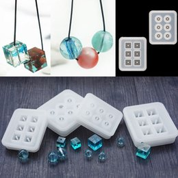 rectangle cake decoration Australia - 5 Pcs set Ransparent Rectangle Silicone Bead Mould Square Ball 6 Holes DIY Epoxy For Jewelry Molds Cake Decoration Tools