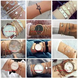 $enCountryForm.capitalKeyWord Australia - New Bohemian bracelets Set For women leaf Star Crystal arrow Moon Knot Love Heat Letter charm Cuff Bangle Fashion Boho Jewelry in Bulk