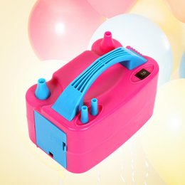 portable balloon pumps Canada - 220V Portable Double Hole Balloon Inflator Pump Air compressor Air Blower EU US Plug AC Electric Inflatable Tools