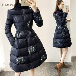 $enCountryForm.capitalKeyWord Australia - Floral Print A-line Winter Jacket Women Clothing Turtleneck Thick Long Coat Wadded Outwear Slim Warm Parkas 2019 Womenplus Size