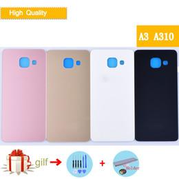 Galaxy A3 Housing Australia - For Samsung Galaxy A310 A310F A3100 Back Battery Case 3D Glass Rear Housing Cover For Samsung A3 2016,Rear Door Case