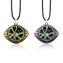 Infinity Crystals Australia - Marvel Avengers Infinity War Doctor Strange Necklace Crystal Eye of Agamotto Pendant Long Bead Chain Necklaces Women Men Jewelry