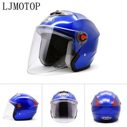 helmet black Australia - Motorcycle Open Face Helmet Modern Helmet Electric Bicycle For Benelli BN300 BN302 BN600 BN TNT 300 600 MSX 125 PCX 150