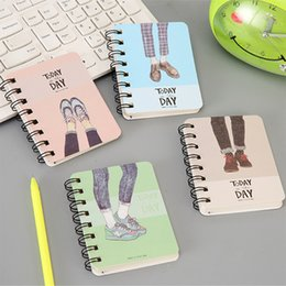 Personal Cartoons Australia - A7 Paper Notebook Kawaii Cute Coil Spiral Note Book Cartoon Planner Organizer Personal Travel Diary Journal Book Stationery