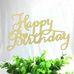 $enCountryForm.capitalKeyWord Australia - 1pc Art Happy Birthday Cupcake Cake Topper Flags Creaitve Baking Decorations For Wedding Kid Happy Birthday Party Baby Shower