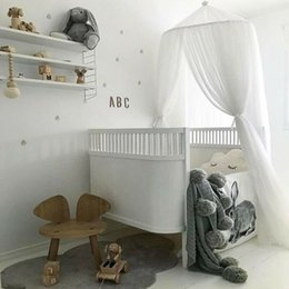 mosquito netting for baby cribs 2019 - Nordic style Cute Baby Girls Solid Princess Canopy Crib Netting Dome Bed Mosquito Net for Nursery cheap mosquito netting