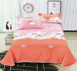 Bedsheet Cotton White Australia - 8pc variety of colorful white dot colored cute bed sheet spring and autumn 100% cotton comfort kids home textile