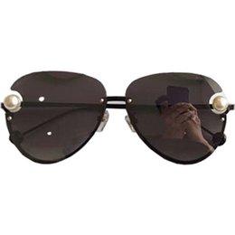 ec0af01d701 Sunglasses Women Brand Designer Pearl frame Pilot Sunglass Women Female Sun  Glasses High quality Mirror Sunglass