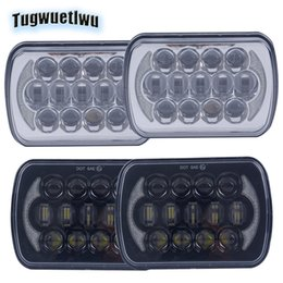 HeadligHt cHerokee online shopping - 5x7inch led headlamps x6 LED Rectangle Headlights drl headlight for Jeep Wrangler YJ Cherokee XJ H6054 H5054 x4 vehicles truck