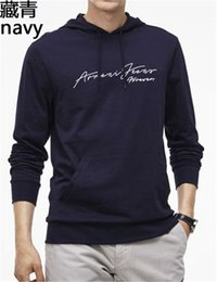 Wholesale european style clothing big men for sale – denim The latest model of young and young street style hoodie with big collar and letter clothes hoodie sexy and sexy