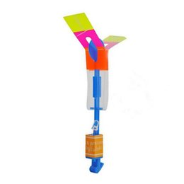 Flashing Helicopter Toy UK - Helicopter Neon Led Light Amazing Elastic Powered Shining Rocket Flash Copter Arrow LED Flash Rotating Flying Arrow Toy p