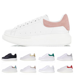 Clear trim online shopping - Casual Shoes Womens White Suede Trim Leather Platform Designer Shoes Fashion Flat Casual Party Wedding Suede Sports Sneakers