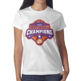Tigers T Shirts Australia - Clemson Tigers College Football Playoff 2018 National Champions Womans Tee Cozy Summer Bulk T Shirts Printing Crew Neck Shirts Womans T Shir