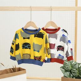 $enCountryForm.capitalKeyWord Australia - Girls Hoodies Fashion Cartoon Cat Print Long Sleeve Sweatshirt Boys Clothing Cotton Toddler Boys T Shirts Girl Tops Kids Clothes