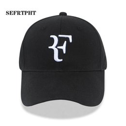 61cb692a 2019 Tennis Star Roger Federer designer cap Dad Hat Sport baseball cap 100% cotton  3D embroidery Unisex Snapback caps Tennis hat F Hats bone