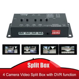 car front side view camera UK - 4CH Quad input video Split Box with Recorder function support 4 camera video together car front rear left right side view camera