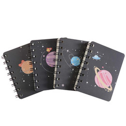 stationery mini notepads NZ - Creative Printed Planet Coil Notebook Portable Mini Blank Word Book Card Tearable Notepads Stationery Gift School Supplies