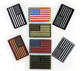 $enCountryForm.capitalKeyWord Australia - 3D embroidered American flag Patch high-quality USA Tactical morale patches Hook backing for attachment to Tactical Hats and Gear Armband