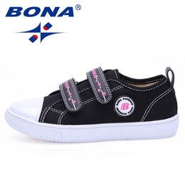 Wide Canvas Shoes Australia - Bona New Style Children Canvas Shoes Hook & Loop Boys Casual Shoes Outdoor Walking Shoes Kinds Comfortable Fast Free Shipping Y190525